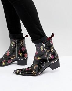 Ботинки с принтом в виде татуировки Jeffery West Sylvian - Черный