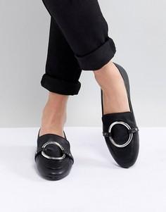 Туфли на плоской подошве с отделкой кольцами RAID Anisha - Черный