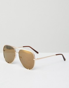 Золотистые солнцезащитные очки‑авиаторы AJ Morgan - Золотой