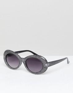 Черные блестящие солнцезащитные очки кошачий глаз AJ Morgan - Черный