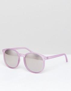 Сиреневые круглые солнцезащитные очки AJ Morgan - Фиолетовый