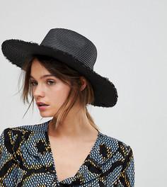 Черная широкополая шляпа South Beach - Черный