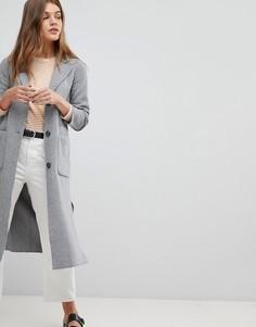 Удлиненное пальто-кардиган Esprit - Коричневый