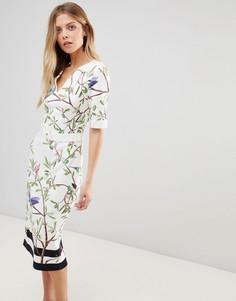 Облегающее платье с принтом Ted Baker Evrely - Белый