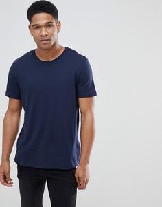 Темно-синяя футболка с круглым вырезом Burton Menswear - Темно-синий