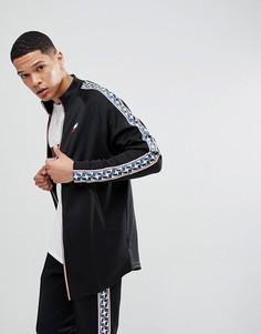 Черная спортивная куртка с полосками по бокам Nike AJ2681-010 - Черный