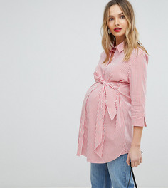 Рубашка с поясом Isabella Oliver - Красный