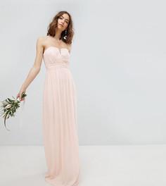Платье-бандо макси TFNC Tall - Розовый