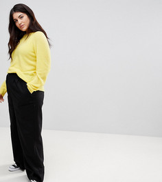 Широкие льняные брюки ASOS CURVE - Черный