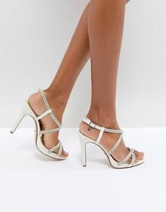 Босоножки на каблуке со стразами Dune London Bridal Mansionn - Кремовый