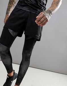 Короткие спортивные шорты черного цвета ASOS 4505 - Черный