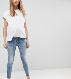 Укороченные джинсы скинни со съемной вставкой для живота Bandia Maternity - Синий
