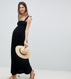 Сарафан макси для беременных с оборками ASOS DESIGN - Черный