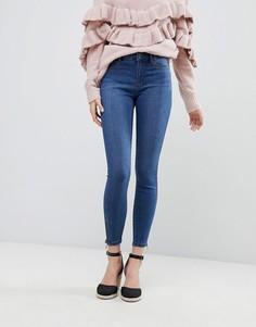 Супероблегающие джинсы с молниями Vero Moda - Синий