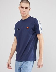 Темно-синяя футболка с отделкой лентой на рукавах ellesse - Темно-синий