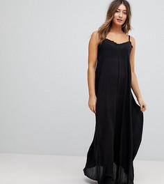 Платье макси с глубоким вырезом на спине ASOS Maternity - Черный