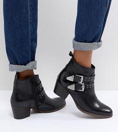 Черные кожаные ботильоны в стиле вестерн Office Alexia - Черный