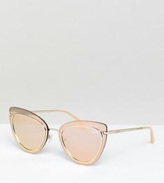 Солнцезащитные очки кошачий глаз цвета розового золота Quay Australia Primrose эксклюзивно для ASOS - Золотой
