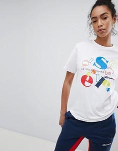 Футболка бойфренда с логотипом в стиле ретро Ellesse Heritage - Белый