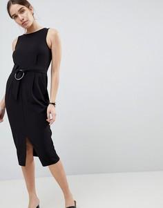 Платье-футляр с кольцом ASOS DESIGN - Черный