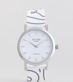 Часы 36 мм с силиконовым ремешком и принтом в стиле 90-х Reclaimed Vintage Inspired эксклюзивно для ASOS - Белый