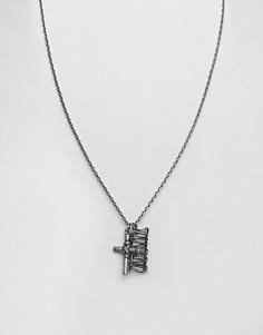 Ожерелье с подвеской-крестиком Seven London - Серебряный
