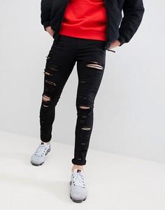 Обтягивающие рваные джинсы черного цвета Jaded London - Черный