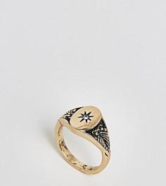 Кольцо-печатка на мизинец в винтажном стиле ASOS DESIGN Curve - Золотой