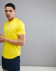 Желтая теннисная футболка с маленьким логотипом ellesse - Желтый