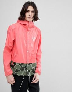 Розовая непромокаемая куртка с капюшоном и камуфляжным принтом Herschel Supply Co Forecast - Розовый
