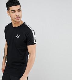 Черная футболка с фирменной лентой Puma эксклюзивно для ASOS - Черный