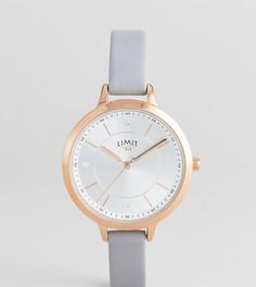 Часы с серым ремешком из искусственной кожи Limit Sunray эксклюзивно для ASOS - Серый