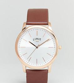 Часы с коричневым ремешком из искусственной кожи Limit эксклюзивно для ASOS - Коричневый
