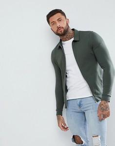Зеленая облегающая куртка Харрингтон ASOS - Зеленый