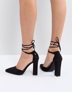Туфли на блочном каблуке RAID Pamela - Черный