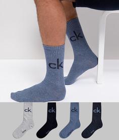 4 пары носков с чехлом в комплекте Calvin Klein - Мульти