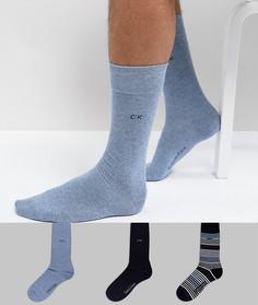 Подарочный набор носков (3 пары) Calvin Klein - Черный