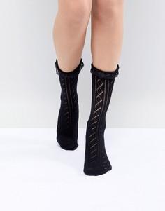 Кружевные носки с оборками ASOS DESIGN - Черный