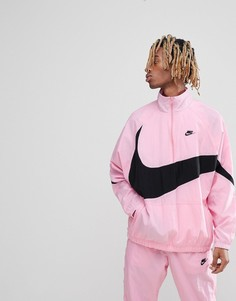 Розовая куртка на молнии с крупным логотипом-галочкой Nike Vaporwave AJ2696-686 - Розовый