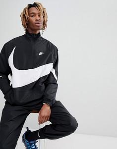 Черная куртка на молнии с большим логотипом Nike AJ2696-010 - Черный