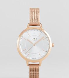 Розово-золотистые часы с сетчатым браслетом Limit эксклюзивно для ASOS - Золотой