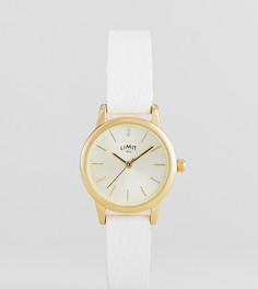 Часы 26 мм с белым ремешком из искусственной кожи Limit эксклюзивно для ASOS - Белый