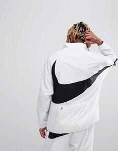 Белая куртка на молнии с крупным логотипом-галочкой Nike Vaporwave AJ2696-100 - Белый