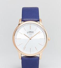 Часы с темно-синим ремешком из искусственной кожи Limit эксклюзивно для ASOS - Темно-синий