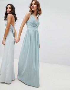 Платье макси с запахом TFNC - Зеленый