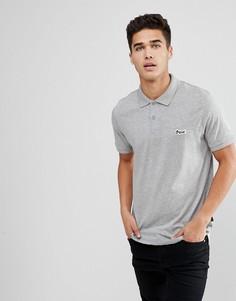 Поло с логотипом на груди Jack & Jones Originals - Серый