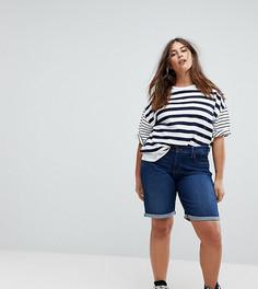 Моделирующие джинсовые шорты с отворотами Levis Plus - Синий