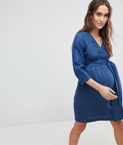 Джинсовое платье Mamalicious - Синий
