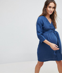 Джинсовое платье Mamalicious - Синий Mama.Licious