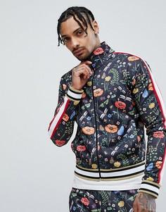 Спортивная куртка с цветочным принтом Jaded London - Черный